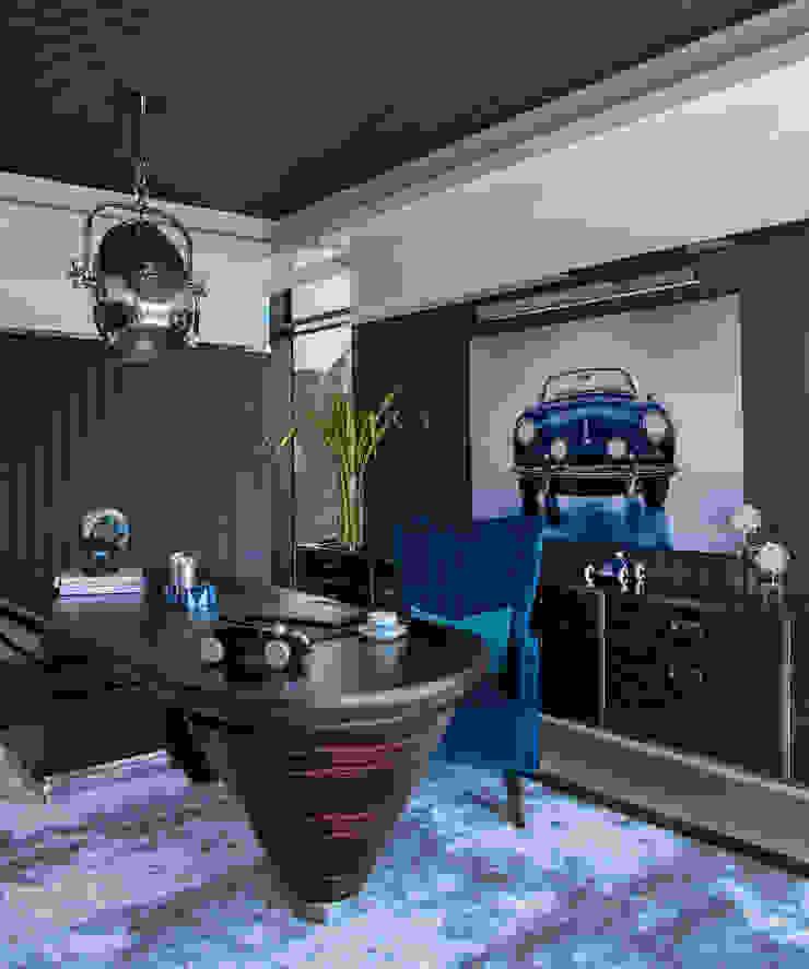Masculine Office Design Design Intervention Modern study/office