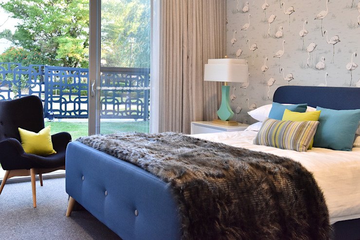 Flamingo Guest Bedroom Decor Design Intervention Modern style bedroom