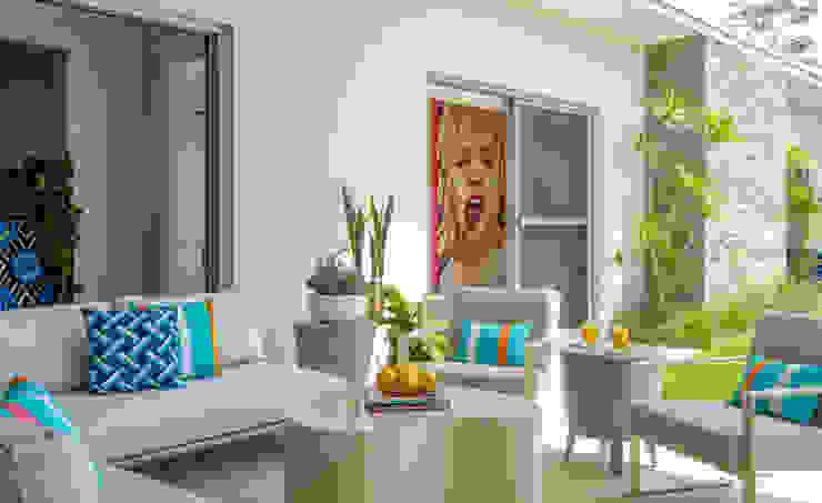 Modern Alfresco Seating Area Design Intervention Modern balcony, veranda & terrace