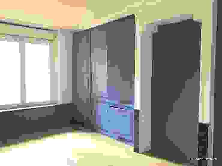 Vue de la rénovation des placards existant pour en faire un dressing Chambre moderne par 3B Architecture Moderne