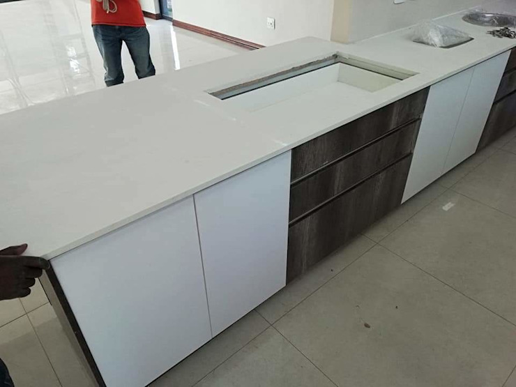kitchen by Decor Revamps Wall and Ceiling Coating Pty Ltd Modern Chipboard
