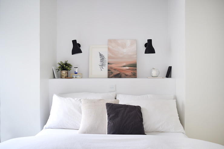 The White Interior Design Studio Kamar tidur kecil