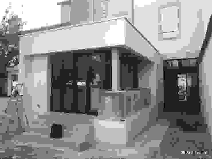 Vue de l'extension à la maison de ville par 3B Architecture Moderne