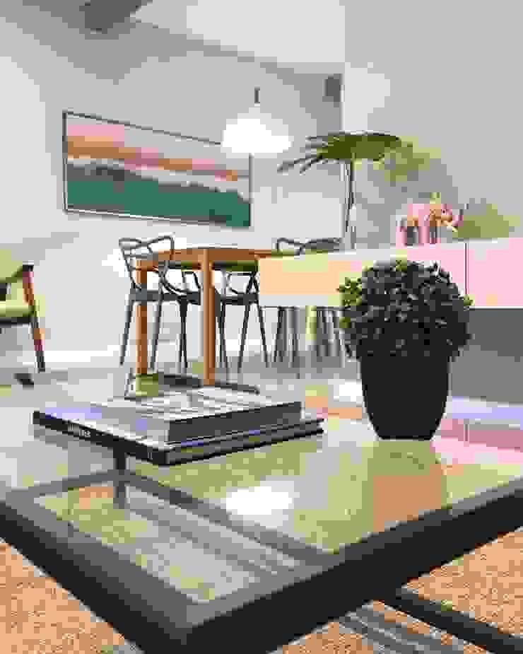 Rabisco Arquitetura Modern living room MDF Green