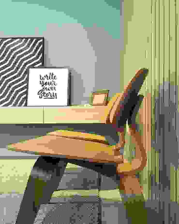 Rabisco Arquitetura Eclectic style living room Wood Wood effect