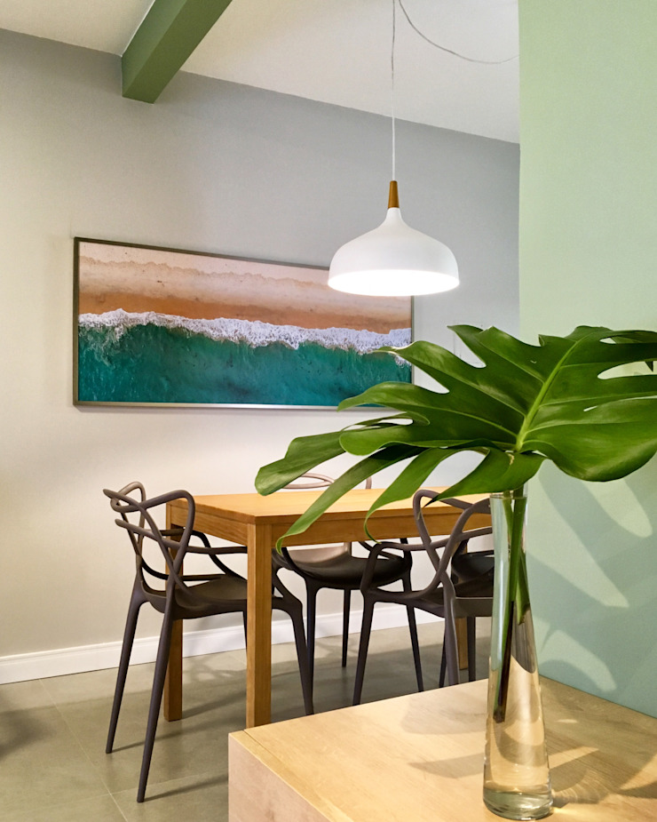 Rabisco Arquitetura Modern dining room Wood Green