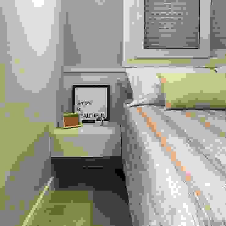 Rabisco Arquitetura Small bedroom MDF Grey