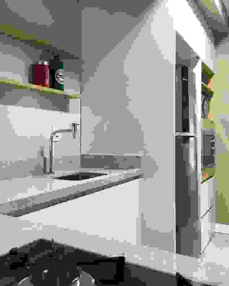 Rabisco Arquitetura Modern kitchen MDF White