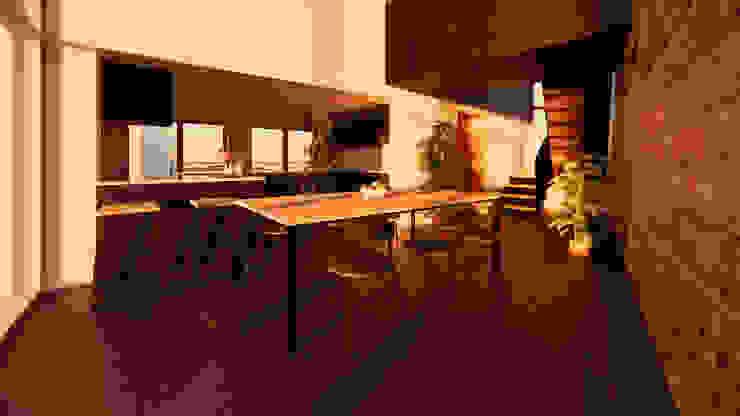 Solar Atrium Living Space by Samuel Kendall Associates Limited Сучасний Залізо / сталь