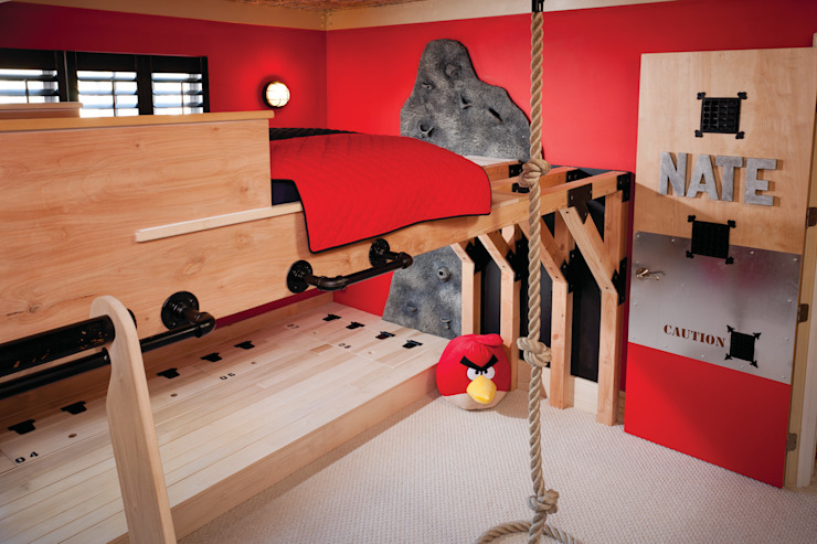 Creative/Active Boy's Room Adaptiv DC Boys Bedroom Wood Red