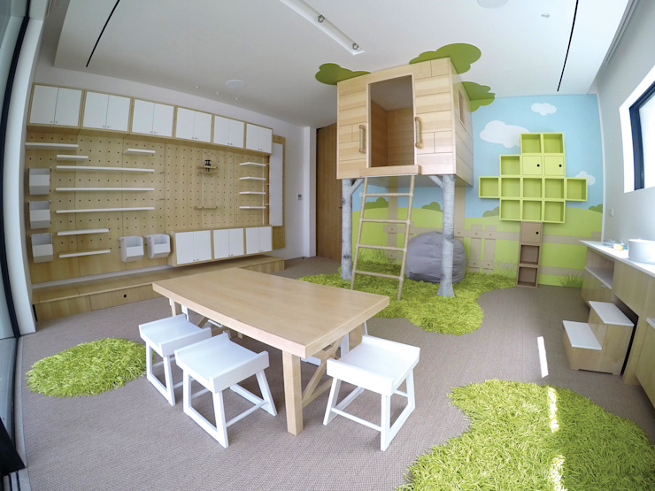 Contemporary Indoor Playroom by Adaptiv DC Modern Wood Wood effect