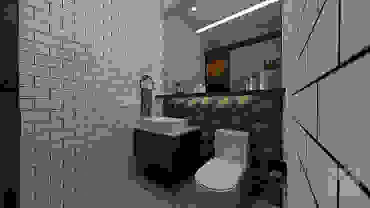 Industrial + Modern Industrial style bathroom by Hayen Interiors Industrial