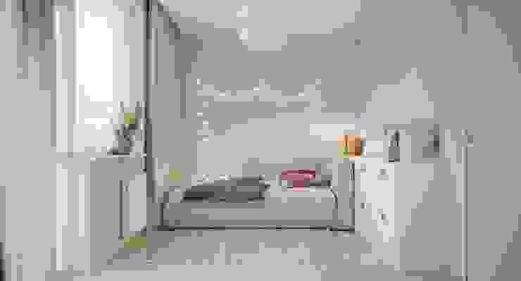 Интерьер апартаментов в г.Заречный *СВЕТ И ВОЗДУХ* Дизайн - Центр Детская комнатa в стиле минимализм