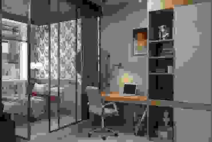 Квартира- студия свободной планировки площадью 45,5 м2 Рабочий кабинет в стиле лофт от ARTWAY центр профессиональных дизайнеров и строителей Лофт