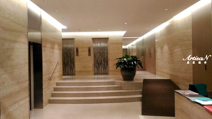 |入住五星級飯店的家|精品公設案 現代房屋設計點子、靈感 & 圖片 根據 芸匠室內裝修設計有限公司 現代風