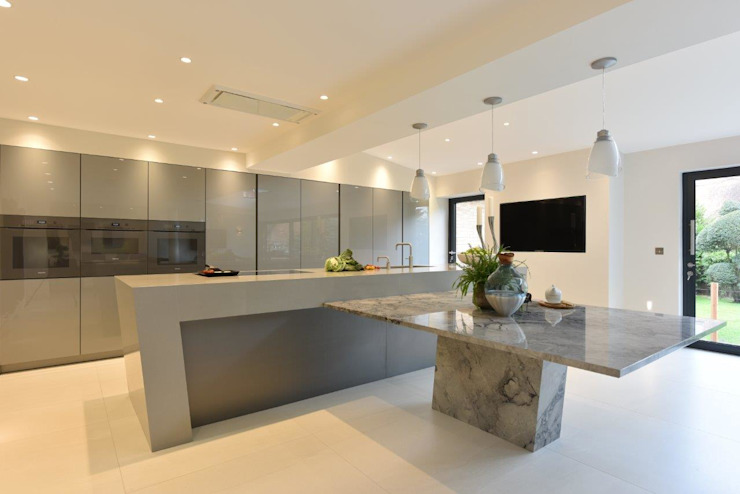 Mr and Mrs Farber by Diane Berry Kitchens Scandinavian Concrete