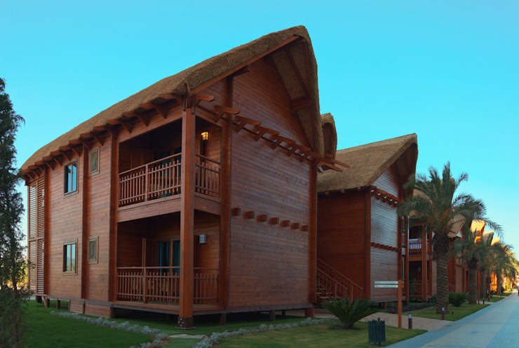 Long Beach Son Hali Çağlar Wood House Modern Ahşap Ahşap rengi