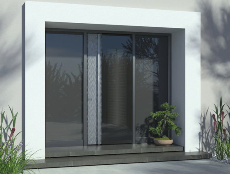 1001-Tuer.de Front doors Glass Black