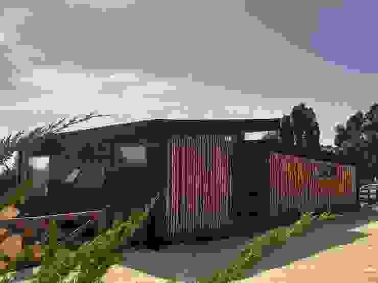 VIVIENDA, ALTO LAUQUEN , PICHILEMU Casas de estilo mediterráneo de KIMCHE ARQUITECTOS Mediterráneo Madera Acabado en madera