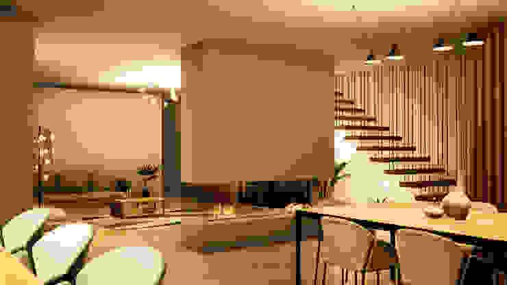 Montemor-o-Velho | Habitação unifamiliar Escala Absoluta Salas de jantar modernas
