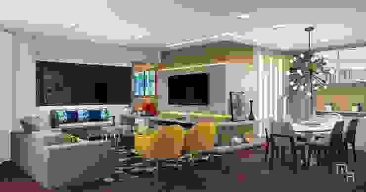 Sala de Estar Marcela Rocca Arquitetura & Interiores Salas de estar modernas Amarelo