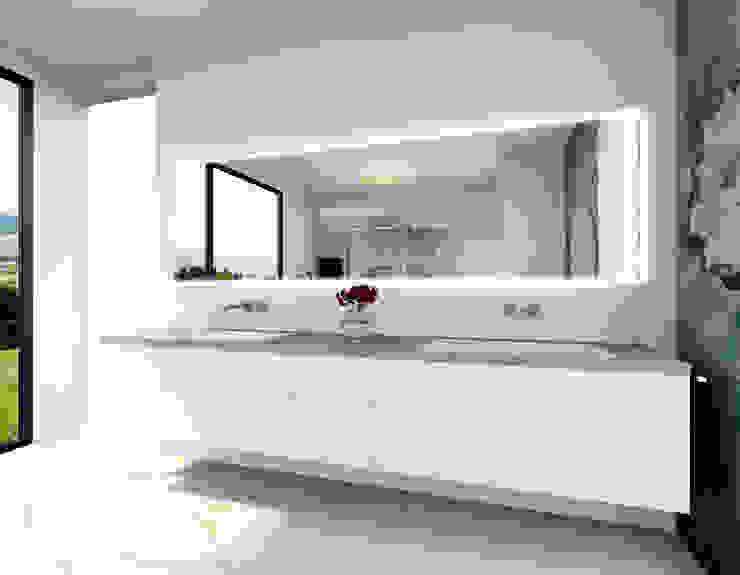 Eine Waschtischanlage für zwei Baddesign Tanja Maier Moderne Badezimmer