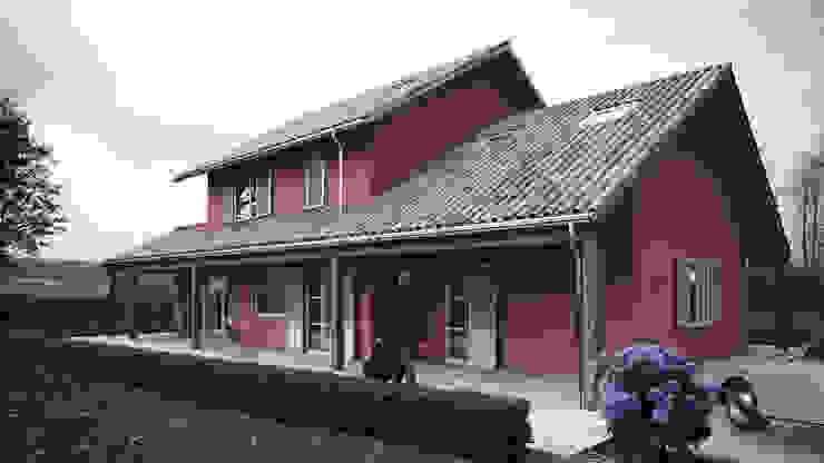 Render Villa Privata - Ingresso Roadrender Casa di campagna Cemento Rosso