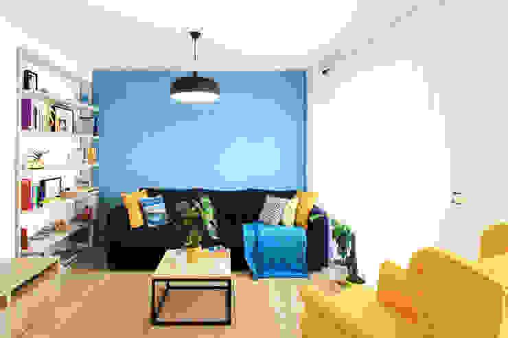 Intenso Albacete Minimalist Oturma Odası Ahşap Mavi