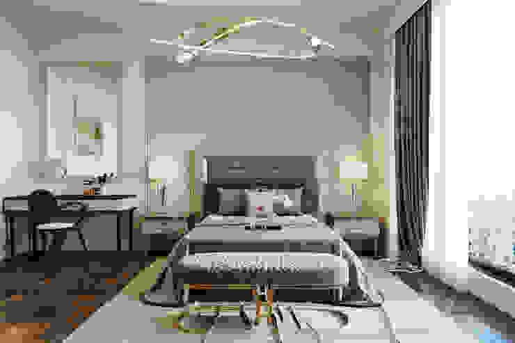 BIỆT THỰ THE POOL VILLA – QUẬN 2 – THÀNH PHỐ HỒ CHÍ MINH Neo Classic Interior Design Phòng ngủ phong cách kinh điển