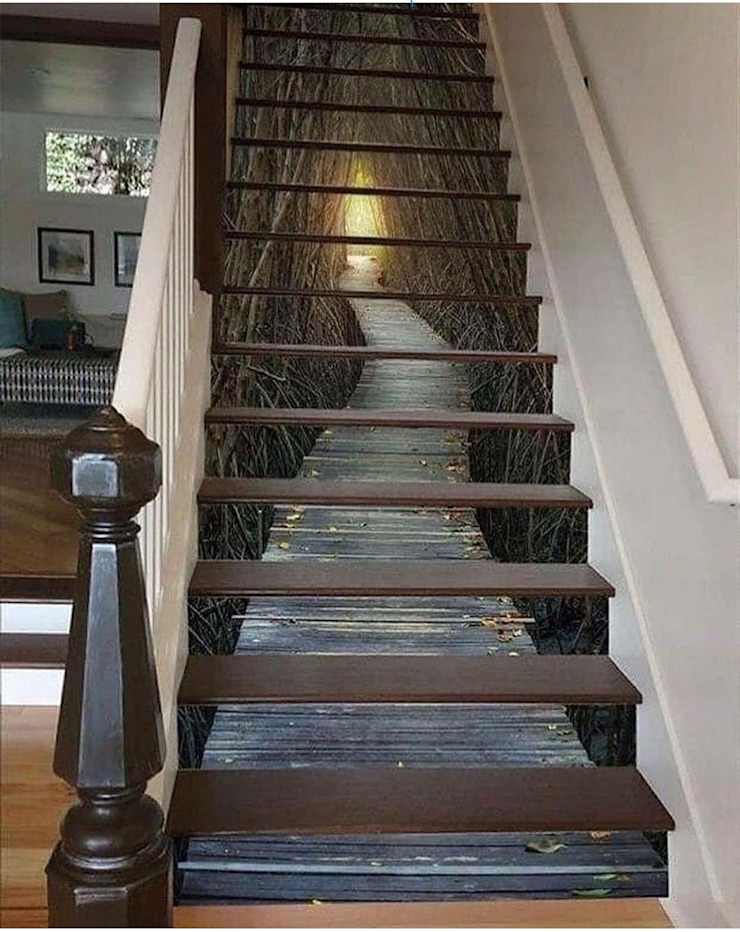 Modern ahşap merdivenler,Dubleks merdiven ve küpeşte resimleri MERDİVENCİ Modern Ahşap Ahşap rengi