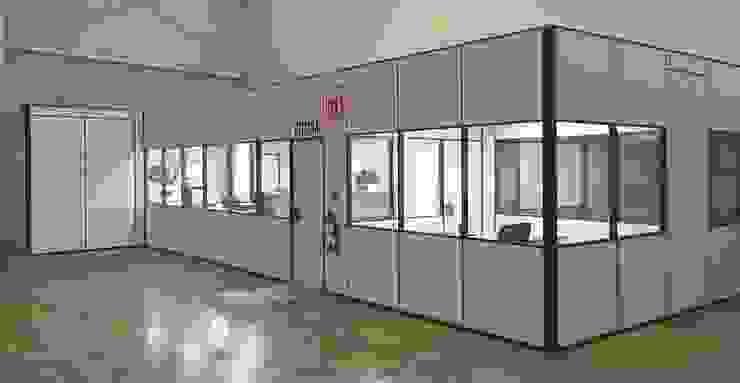 TABIQUES Y TECNOLOGIA MODULAR S.L Kantor & Toko Gaya Industrial Chipboard Grey