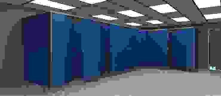 TABIQUES Y TECNOLOGIA MODULAR S.L Rumah Sakit Gaya Industrial OSB Blue