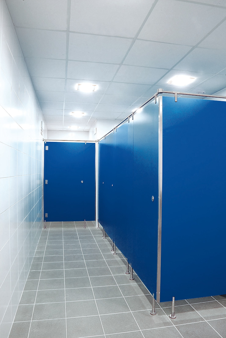 TABIQUES Y TECNOLOGIA MODULAR S.L Industrial style office buildings OSB Blue