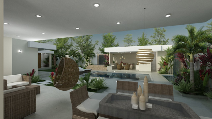 Casa Pedraza Balcones y terrazas de estilo moderno de NG Arquitectos Moderno