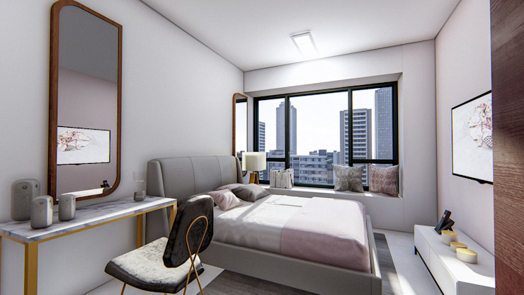 Singapore 3 Bedroom Online Interior Design Project Modern style bedroom by Marilen Styles Modern