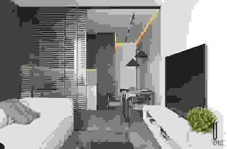 YOUSUPOVA Salones de estilo minimalista