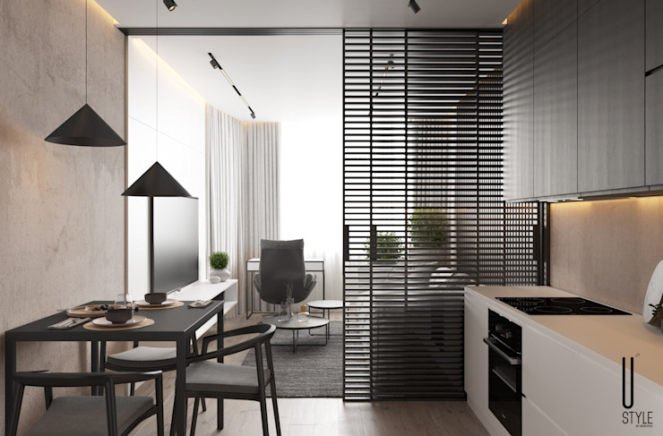 YOUSUPOVA Cocinas de estilo minimalista