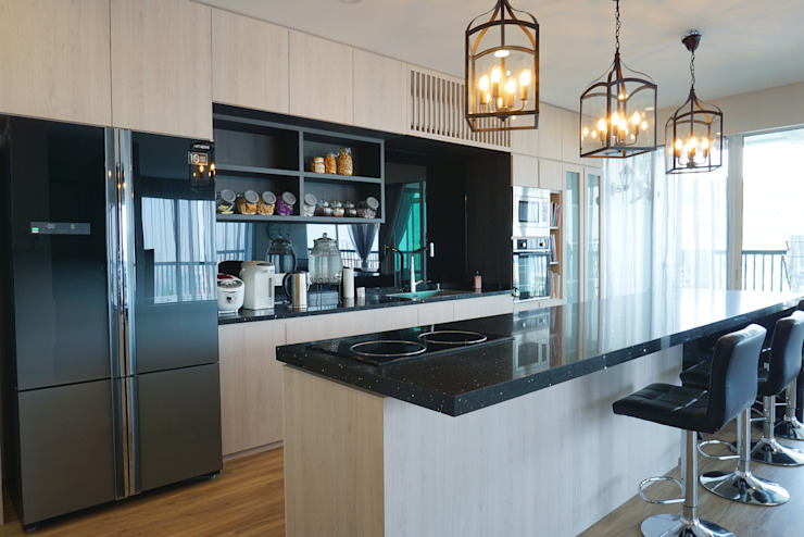 Dry Kitchen Modern style kitchen by Infinite Intelligence Sdn Bhd Modern