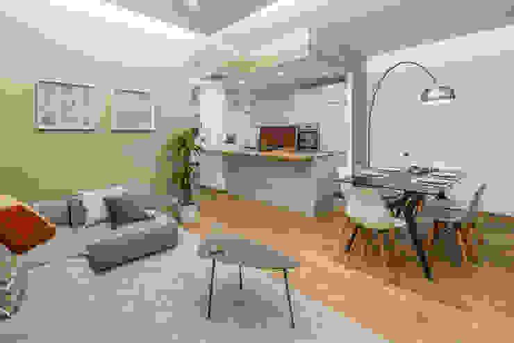 Casa AJ Cucina moderna di Architrek Moderno