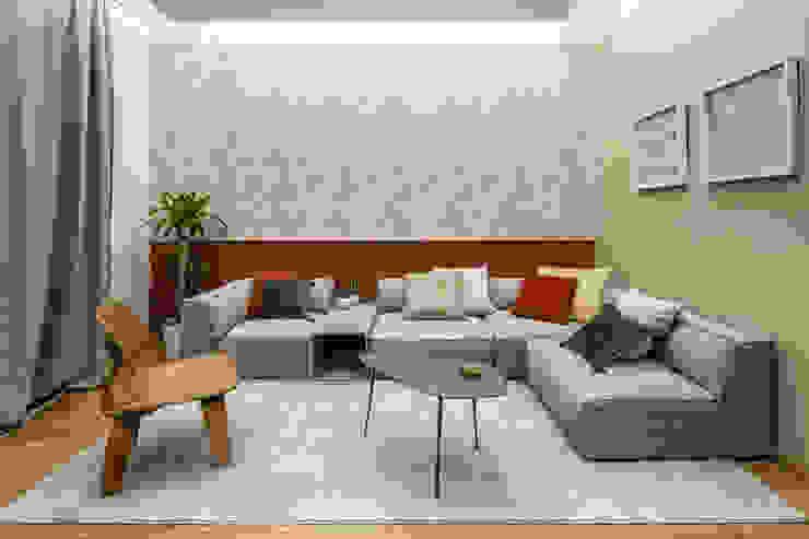 Casa AJ Soggiorno moderno di Architrek Moderno