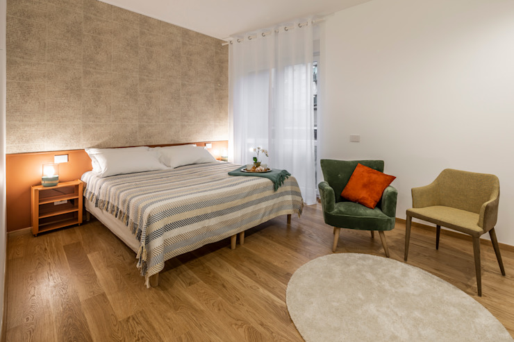 Casa AJ Camera da letto moderna di Architrek Moderno