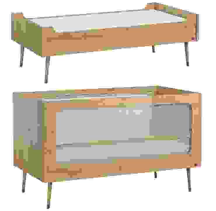 QMM TraumMoebel Dormitorios de bebé Acabado en madera