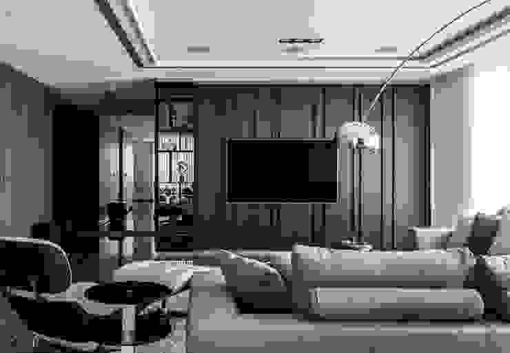 客廳 電視牆 现代客厅設計點子、靈感 & 圖片 根據 大企國際空間設計有限公司 現代風