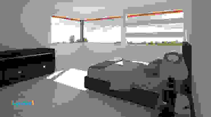 Residencia Lomas Dormitorios modernos de Lynder Constructora e Inmobiliaria Moderno Mármol