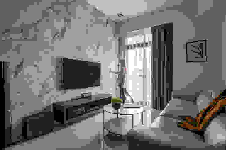 Smile Century – Condominium interior design 勻境設計 Unispace Designs 现代客厅設計點子、靈感 & 圖片
