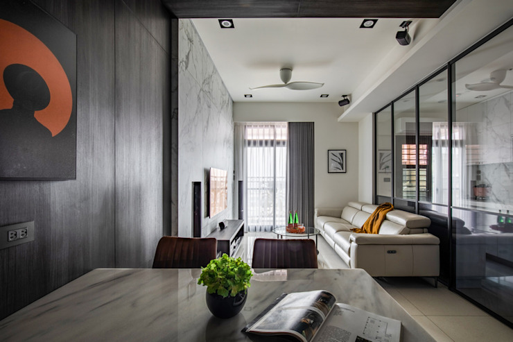 Smile Century – Condominium interior design 勻境設計 Unispace Designs 現代廚房設計點子、靈感&圖片
