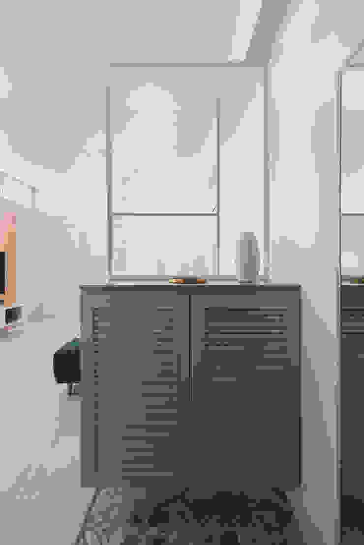 飴 現代風玄關、走廊與階梯 根據 知域設計 現代風