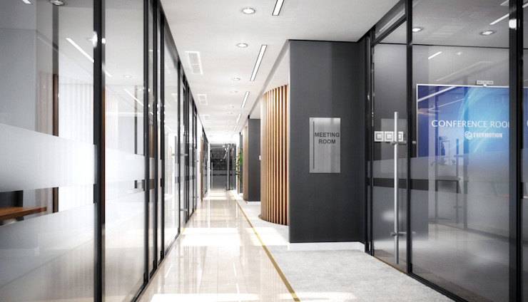 Sảnh CÔNG TY TNHH NỘI THẤT CNC Corridor, hallway & stairsAccessories & decoration Gỗ White