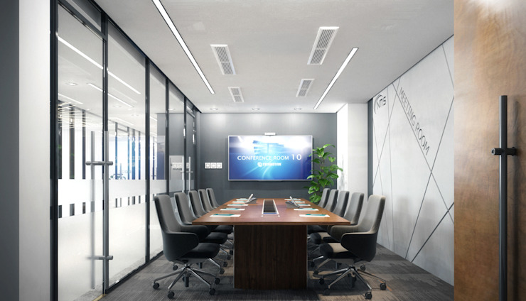 Phòng họp CÔNG TY TNHH NỘI THẤT CNC Office spaces & stores