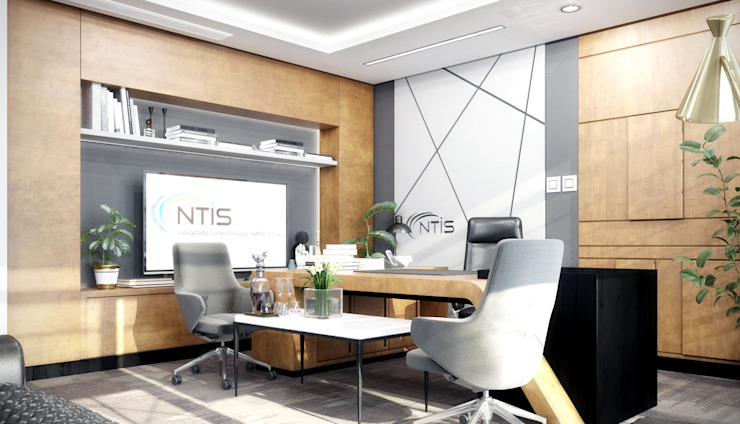 Phòng Giám đốc CÔNG TY TNHH NỘI THẤT CNC Office spaces & stores